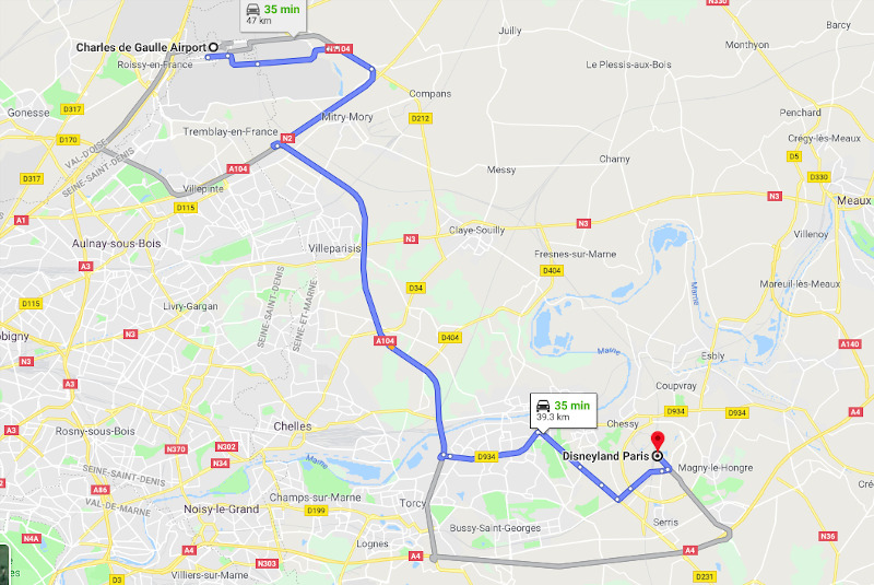 taxi from CDG to disneyland Paris